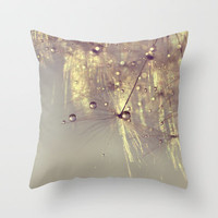 sparkles of gold Throw Pillow by ingz