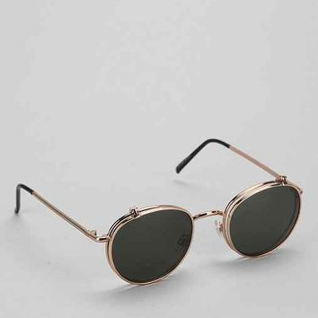 Flip-Top Round Sunglasses - Gold One