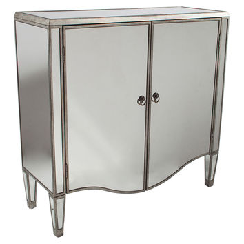 Brady Mirrored Chest, Pewter, Chest of Drawers