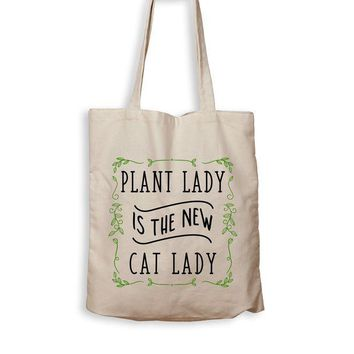 ac NOVO Plant Lady Is The New Cat Lady - Tote Bag