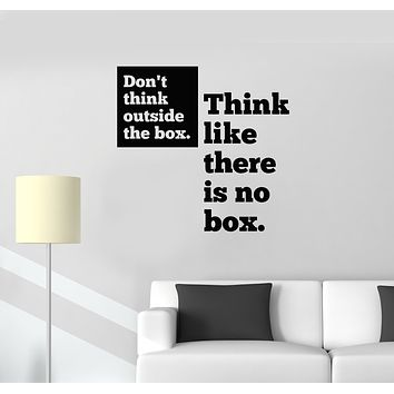 Vinyl Wall Decal Motivation Office Quote Inspirational  Words Room Art Decor Stickers Mural (g1624)