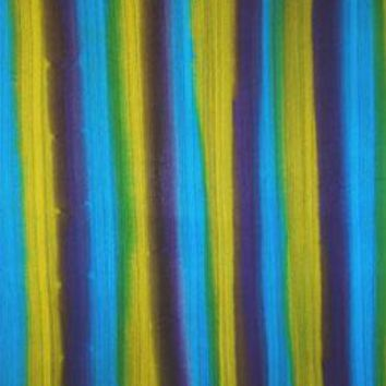Vertical Stripes with Green, Blue and Purple Sarong with Fringe