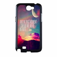 Perks Of A Wall Flower Quote Design Vintage Retro Samsung Galaxy Note 2 Case