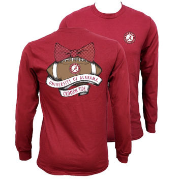 Southern Couture Alabama Crimson Tide Vintage Football Long Sleeve T-Shirt