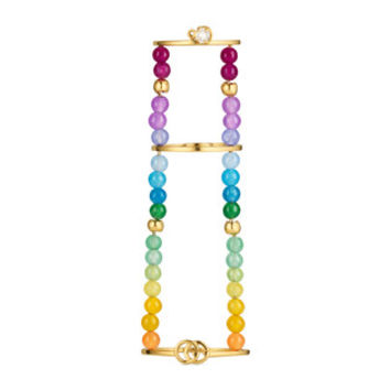 Gucci GG Running chain ring with gemstones