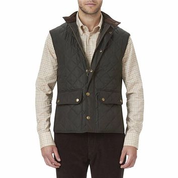 Lowerdale Quilted Gilet in Dark Green by Barbour