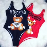 MOSCHINO One Piece Summer Beach Hot Swimsuit Swimwear Bikini Set
