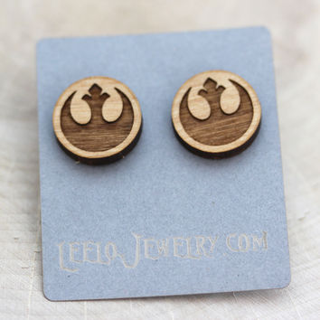 Wooden Rebel Alliance Earrings