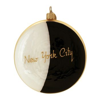 "Michael Storrings for Landmark Creations ""NYC Black & White Cookie"" Ornament"