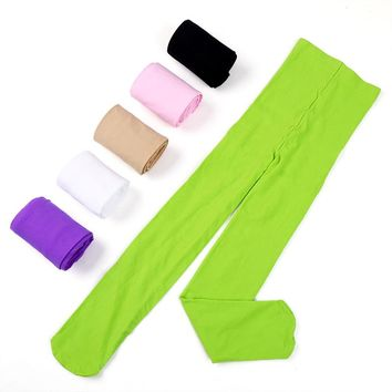 15colors Kids Girls Baby Soft Pantyhose Tights Stockings Ballet Dance Velvet  XS/S/M/L/XL ZL073
