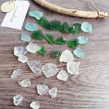 Sea Glass Mobile, Nature Wall Decor, Wall Art, Sea Glass, Home Decor, Large Mobile, Beach Decor, Driftwood Decor, Wind Chime, Wedding Decor