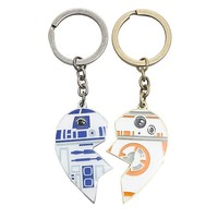 Star Wars Droids R2-D2 BB-8 Best Friends Forever Key Chains