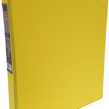 "1"""" Yellow Vinyl 3-Ring Binder w/ 2 Pockets Case Pack 24"