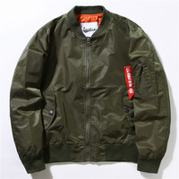 "Men ""Supreme"" like Thin Vintage Baseball Air-force Jacket  [8559704135]"
