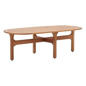 Saratoga Outdoor Patio Premium Grade A Teak Wood Oval Coffee Table