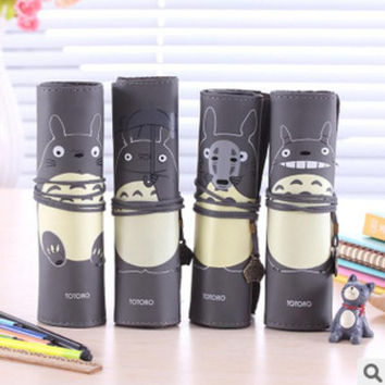 My Neighbor Totoro PU Leather Roll Pencil Case