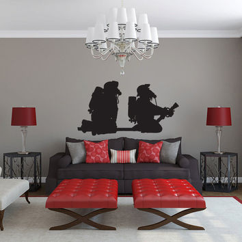 Firefighters Vinyl Wall Decal Sticker Graphic