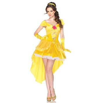 Princess Bella Halloween costumes for adult  women cartoon fantasias beauty and beast costume cosplaydress for girls cosplay