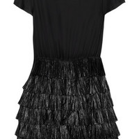 Moschino Cheap and Chic Raffia-trimmed cotton and silk-blend dress – 64% at THE OUTNET.COM