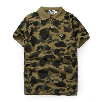 Embroidery Men's Fashion Camouflage Men Casual Short Sleeve T-shirts [429895516196]