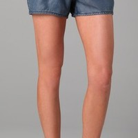 7 For All Mankind Pleated Shorts with Self Belt