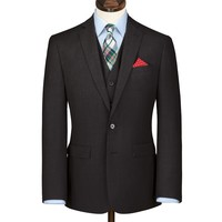 Charcoal Clarendon twill slim fit business suit jacket | Men's business suits from Charles Tyrwhitt | CTShirts.com