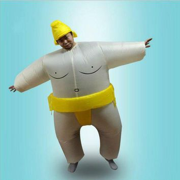 LMFON Adults Kids Inflatable Sumo Suits Wrestler Costume Outfits for Men Women Children Fat Man Airblown Sumo Run Cosplay Halloween