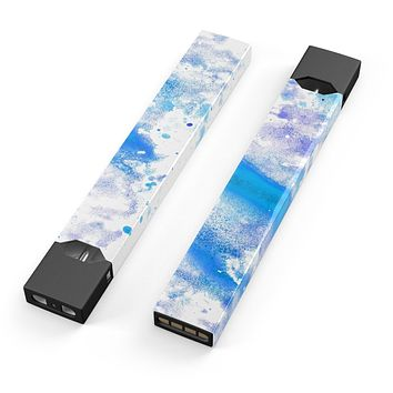 Skin Decal Kit for the Pax JUUL - Blue Watercolor on White