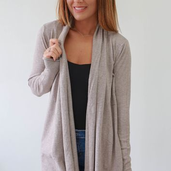 On The Ball Cardigan - Taupe