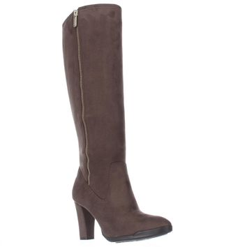 AK Anne Klein Sport Elek Tall Stretch Boots, Taupe, 10 US