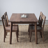 Walnut Dining Set - Ventura Table and 4 Chairs