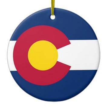 Ornament with flag of Colorado