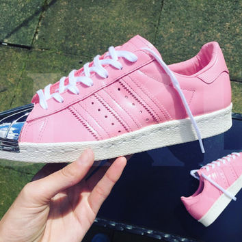 Adidas 'Pink' Superstar 80s metal toe custom '16