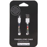 PacSun Tribal Knit iPhone 5 Charge & Sync Cable - Womens Scarves - Multi - One