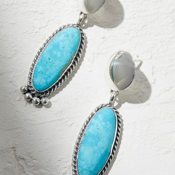 Free People Sterling Turquoise Drop Earrings