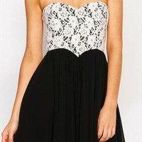 Sexy Sweetheart Black Lace Chiffon Dress from styleonline