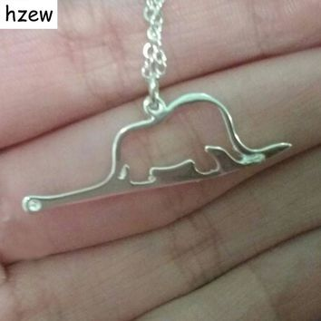 hzew animal cute Little Prince necklaces jewelry Elephant a snake Charm pendant necklace