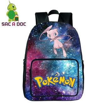 Cool Galaxy Star  Mewtwo Travel Backpack for Teenagers Girls Boys Universe Space School Bags Women Rucksack BackpackKawaii Pokemon go  AT_89_9
