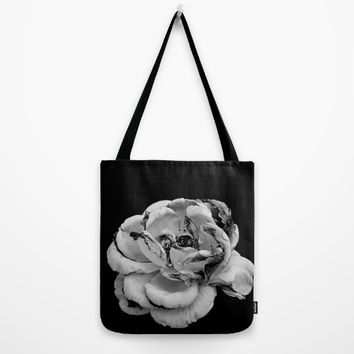 Rose in black and white  Tote Bag by VanessaGF