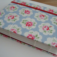 Watercolour Art Journal Sketchbook with Cath Kidston Fabric & Saunders Waterford Paper