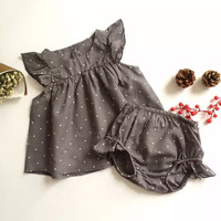 2016 summer new infant baby suit skirts big ass pants suit boys and girls summer thin section