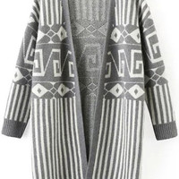 Grey Aztec Cardigan