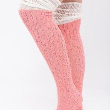 Pretty In Pink Boot Socks !