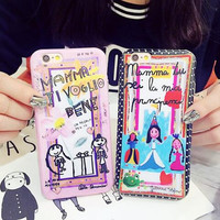 Creative graffiti painting phone case for iPhone 6 6S 6plus 6Splus 1008J01