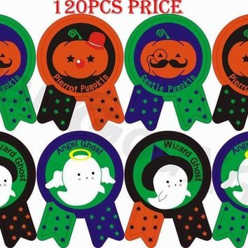 120pcs DIY Baking seal stickers cute Halloween Pumpkin Gift Tags festival witch bat home Party Label Marks Decoration Accessory