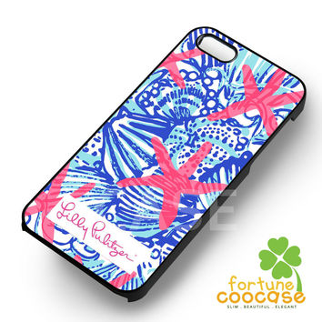 She Shells Lilly Pulitzer-1yy4 for iPhone 6S case, iPhone 5s case, iPhone 6 case, iPhone 4S, Samsung S6 Edge