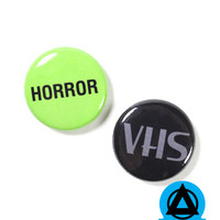 Horror VHS Button Set
