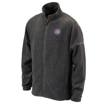Chicago Cubs Flanker Fleece Jacket by Columbia Sportswear-Gray