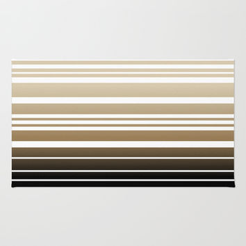 Bay Ombre Stripe: Neutral Area & Throw Rug by Eileen Paulino