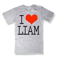 One Direction I Love Liam Payne Gray Shirt - All Sizes Available